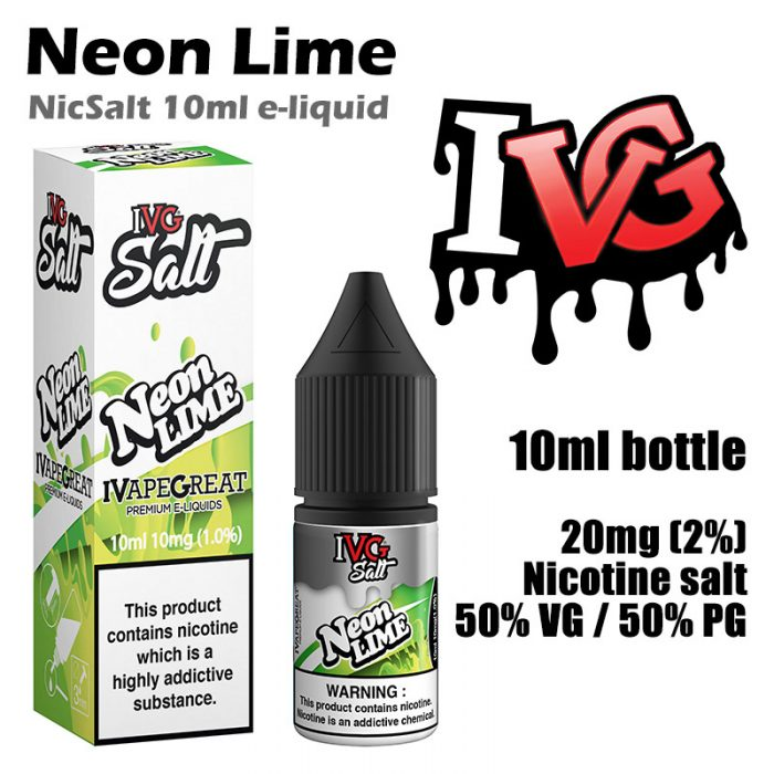 Neon Lime - I VG e-liquids - Salt Nic - 50% VG - 10ml
