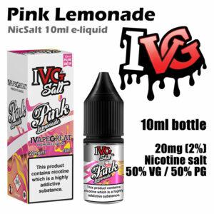 Pink Lemonade - I VG e-liquids - Salt Nic - 50% VG - 10ml