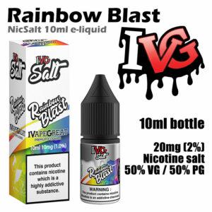 Rainbow Blast - I VG e-liquids - Salt Nic - 50% VG - 10ml