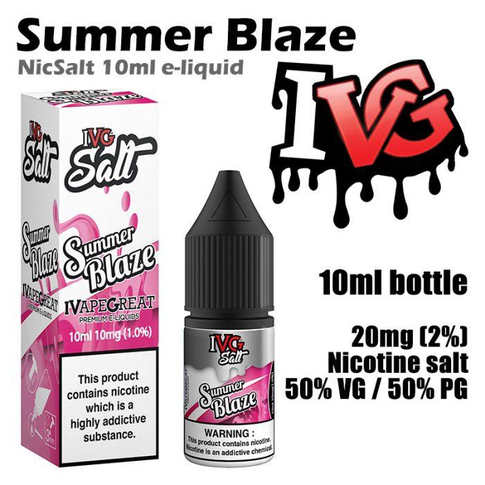 Summer Blaze - I VG e-liquids - Salt Nic - 50% VG - 10ml