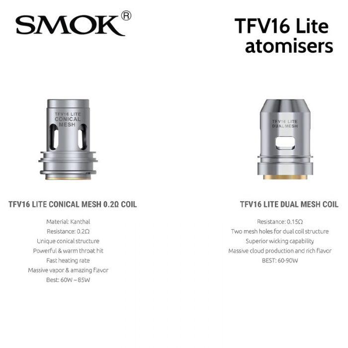 3 pack SMOK TFV16 Lite atomisers