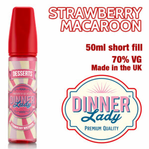 Strawberry Macaroon e-liquid by Dinner Lady - 70% VG - 50ml