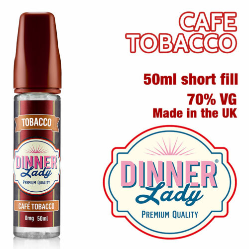 Café Tobacco e-liquid by Dinner Lady - 70% VG - 50ml