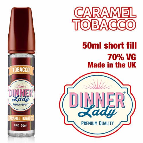 Caramel Tobacco e-liquid by Dinner Lady - 70% VG - 50ml