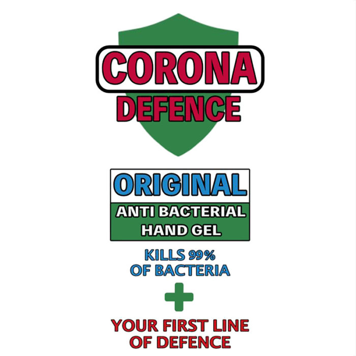 Anti Bacterial Hand Gel - Corona Defence - 60ml