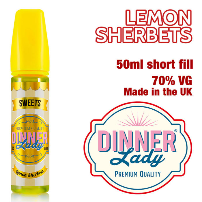 Lemon Sherbets e-liquid by Dinner Lady - 70% VG - 50ml