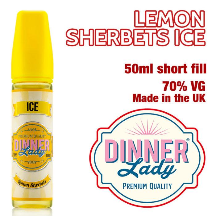 Lemon Sherbets Ice e-liquid by Dinner Lady - 70% VG - 50ml