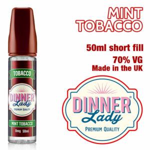Mint Tobacco e-liquid by Dinner Lady - 70% VG - 50ml