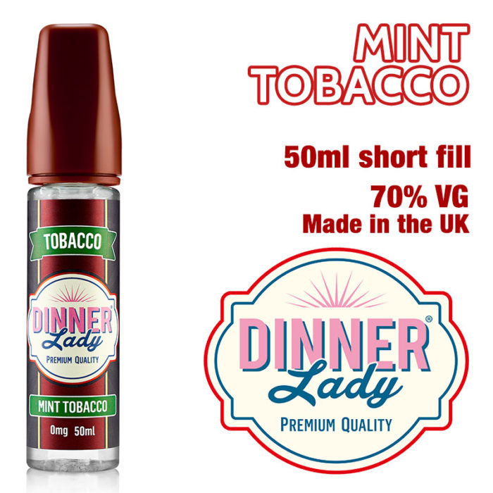 Mint Tobacco e-liquid by Dinner Lady - 70% VG - 50ml