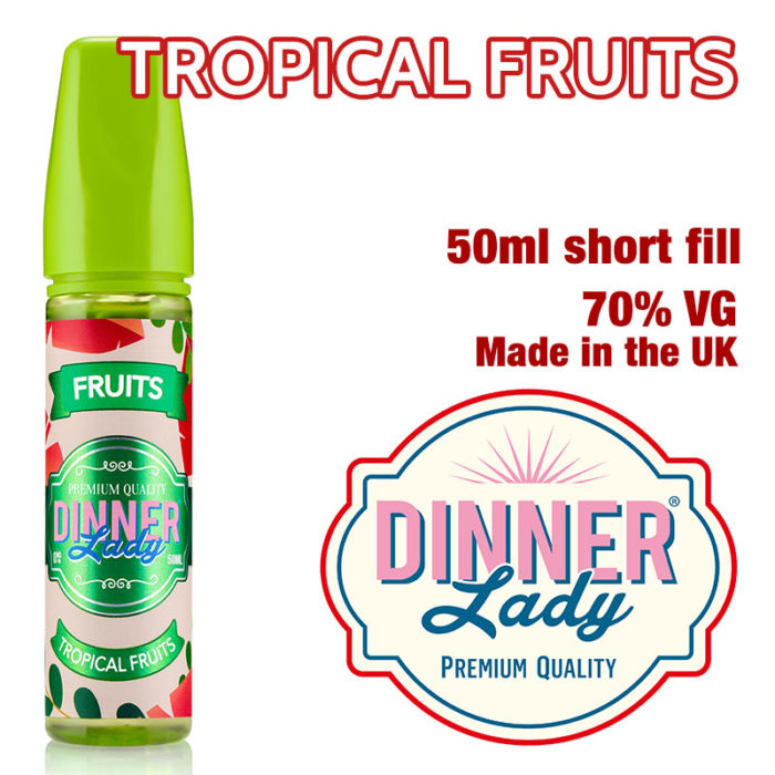 Tropical Fruits e-liquid by Dinner Lady - 70% VG - 50ml