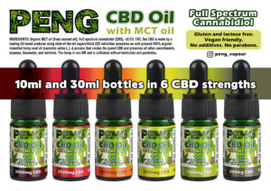 Peng CBD Oil with MCT Coconut Oil - 10ml bottle
