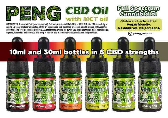 Peng CBD Oil with MCT Coconut Oil - 10ml bottle