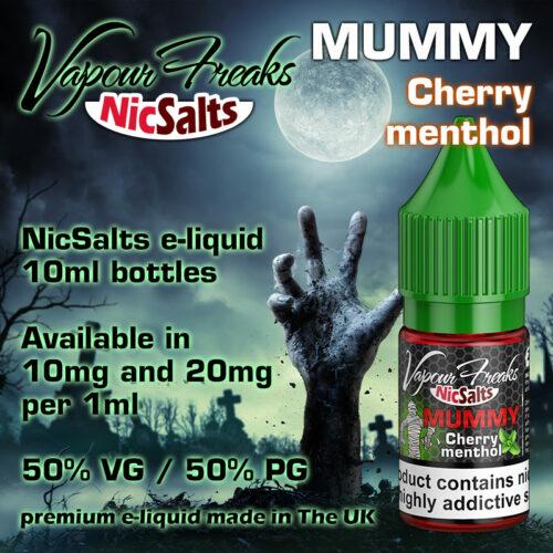 Mummy - cherry menthol - Vapour Freaks NicSalts e-liquids - 10ml