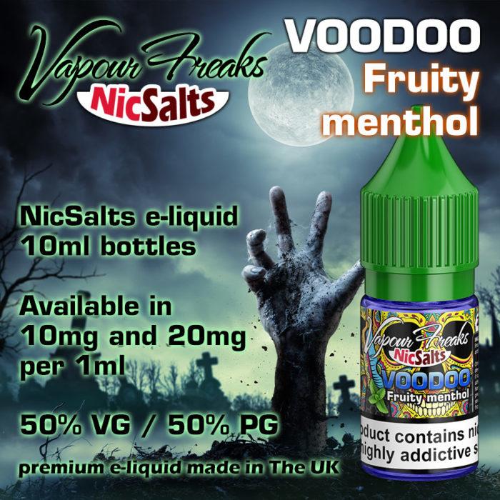 VooDoo - Fruity menthol - Vapour Freaks NicSalts e-liquids - 10ml