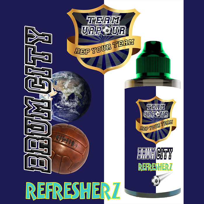 Brum City Refresherz - Team Vapour e-liquid - 70% VG - 100ml