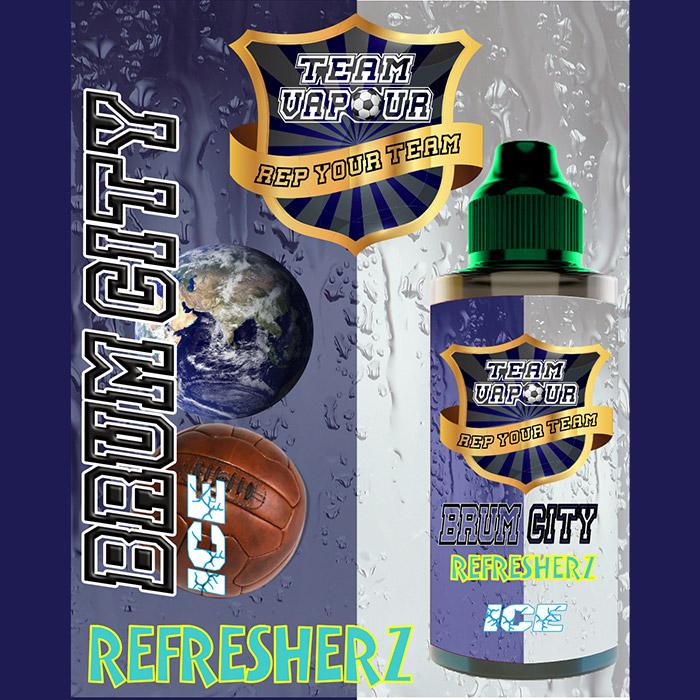 Brum City Refresherz Ice - Team Vapour e-liquid - 70% VG - 100ml