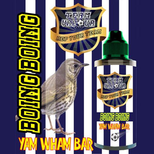 Boing Boing Yam Wham Bar - Team Vapour e-liquid - 70% VG - 100ml