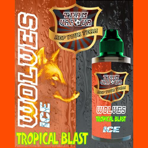 Wolves Tropical Blast Ice - Team Vapour e-liquid - 70% VG - 100ml