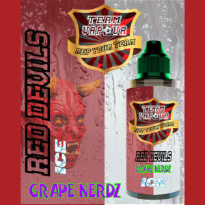 Red Devils Grape Nerdz Ice - Team Vapour e-liquid - 70% VG - 100ml