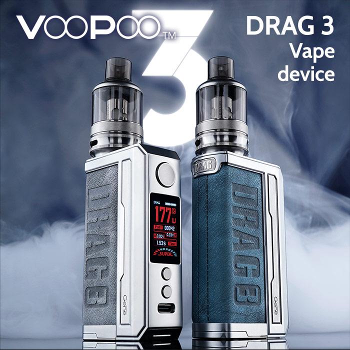 VooPoo DRAG 3 vape kit 177w (replaceable batteries)