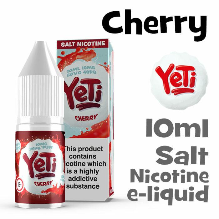 Cherry - Yeti Salt Nicotine eliquid - 10ml