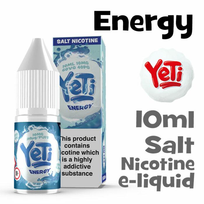 Energy - Yeti Salt Nicotine eliquid - 10ml