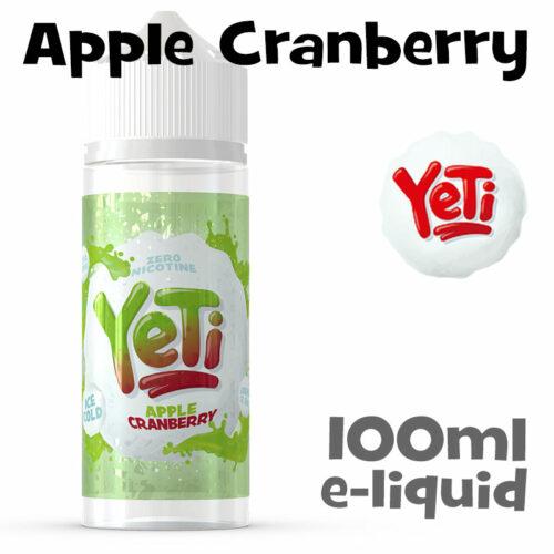 Apple Cranberry - Yeti e-liquid - 100ml