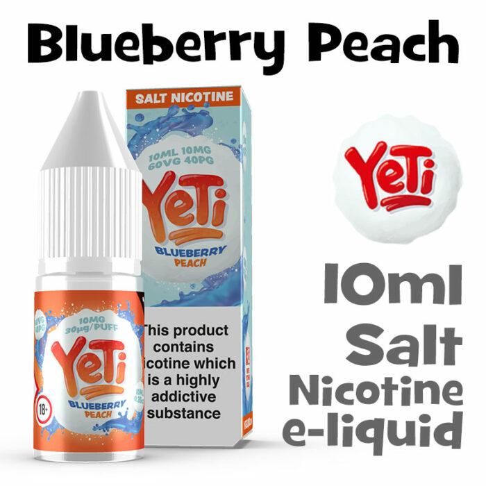 Blueberry Peach - Yeti Salt Nicotine eliquid - 10ml