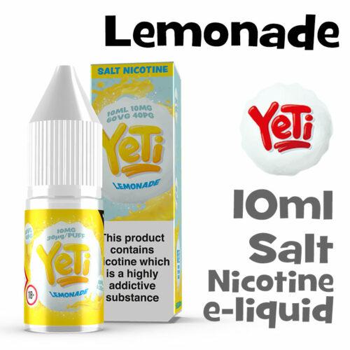Lemonade - Yeti Salt Nicotine eliquid - 10ml