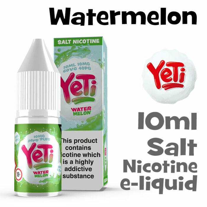 Watermelon - Yeti Salt Nicotine eliquid - 10ml