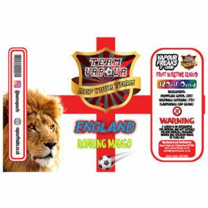England Roaring Mango - Team Vapour e-liquid - 70% VG - 100ml