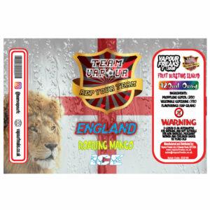 England Roaring Mango Ice - Team Vapour e-liquid - 70% VG - 100ml