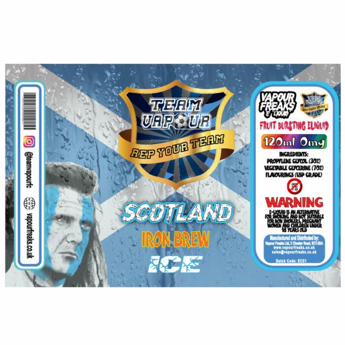 Scotland Iron Brew Ice - Team Vapour e-liquid - 70% VG - 100ml